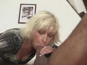 Blonde MILF seduces son-in-law into romp